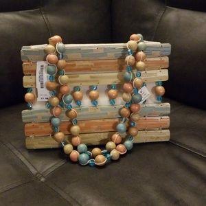Wooden/canvas purse